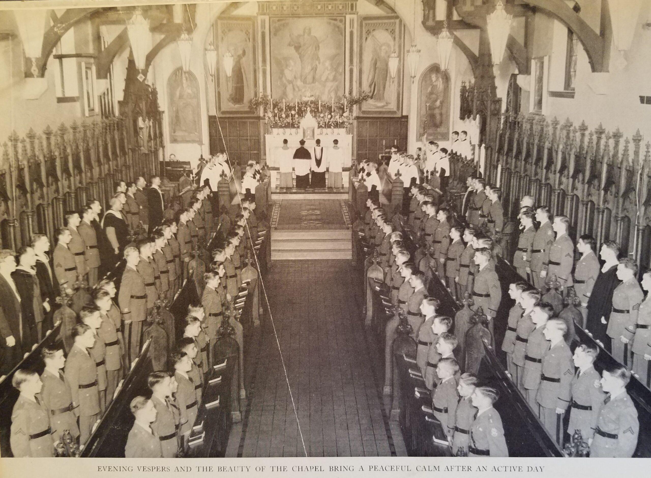 cadets attend chapel