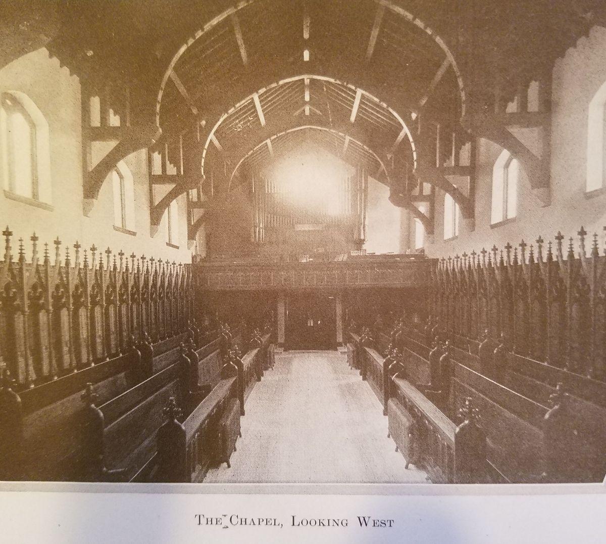 St. James Chapel, looking west