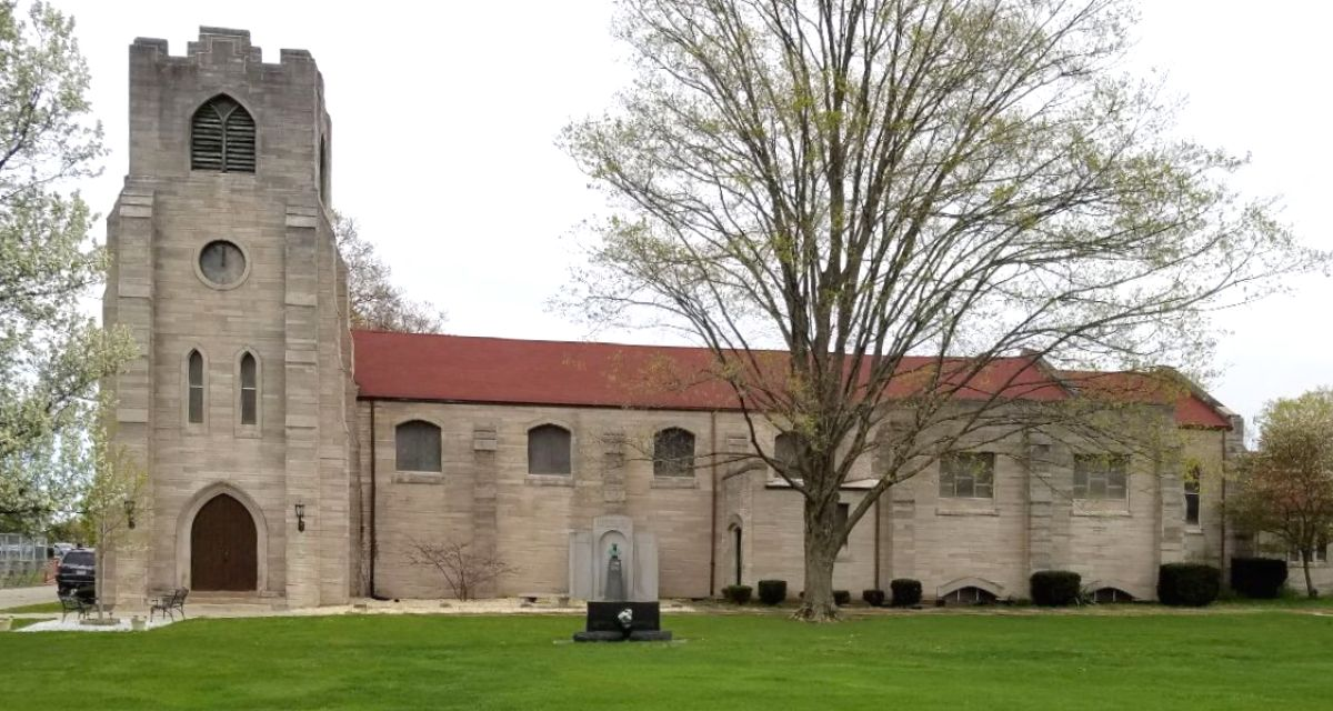 St. James Chapel showing all stages of construction